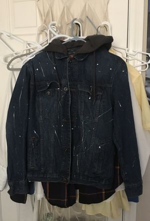 Jean jacket hoodie for Sale in Las Vegas, NV