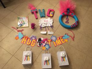 Trolls party items for Sale in Cypress, TX