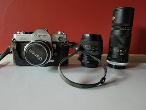 Canon FX 35mm Film Camera w/ 3 Lenses for Sale in Hudson, MA