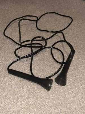Gently Used Black Plastic Jump Rope for Sale in Los Angeles, CA