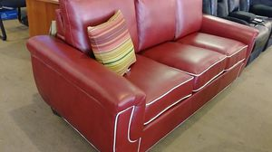 Red leather sleeper sofa for Sale in Phoenix, AZ