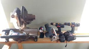 18-volt cordless Ryobi tool kit plus Miter saw for Sale in Milton, FL