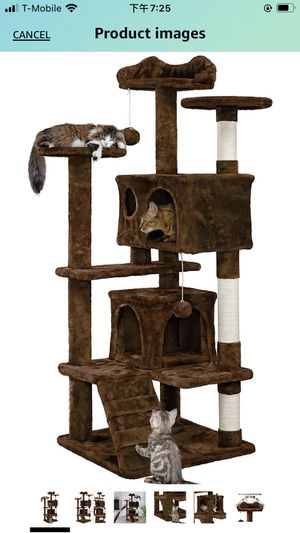 54.5in Cat Tree Tower Condo Furniture Scratch Post for Kittens Pet House Play for Sale in Diamond Bar, CA