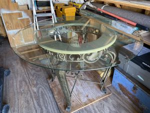 Metal glass table for Sale in Virginia Beach, VA