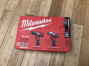 Milwaukee M12 Drill Driver & Impact Driver Combo Kit for Sale in Framingham, MA