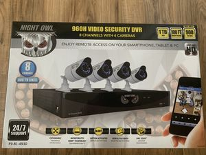 Night Owl 960H 8 Channel 4 Camera 900 TV Lines Pre-Installed 1TB HDD - Model: F9-81-4930 for Sale in Miami, FL