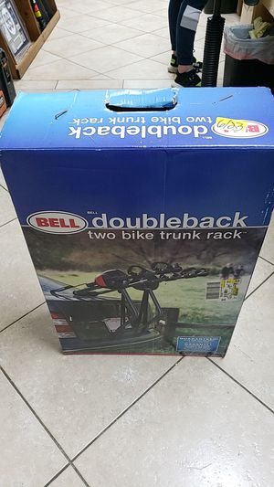 Pre owned bell double back two bike trunk rack for Sale in Pompano Beach, FL