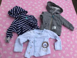 Baby boy carters jacket lot size newborn zip up hoodie for Sale in Queens, NY