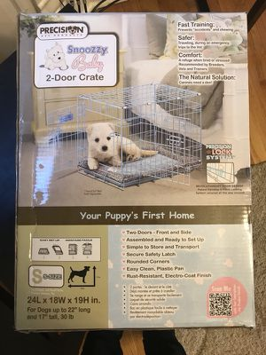 BRAND NEW Snoozy Baby 2-Door Crate Cage...Originally 79.99 at Petco (Size:Small) for Sale in Chicago, IL