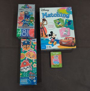 Kids Games and Puzzles: PJ masks, Paw Patrol and Mickey Mouse for Sale in Glendale, AZ