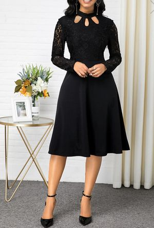 BEAUTIFUL BLACK LACE DRESS LONG SLEEVE SIZE L fits like a Xl BRAND NEW for Sale in Bakersfield, CA