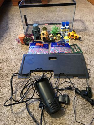 Fish tank, food, filter, rocks and cleaner for Sale in Pasadena, MD