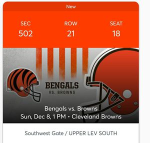 Bengals vs Browns for Sale in Strongsville, OH