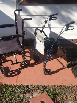 Rollator Walker And Wheelchair $ 75 Or $40 Each for Sale in Fort Myers,  FL