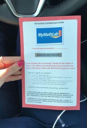 Mymath lab access code for Sale in Hialeah, FL