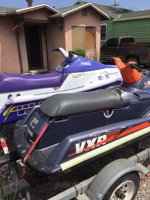 1994 Yamaha Waverunners with trailer!! Great deal!! Both start right up and run great!! $1,000 You won't find a better deal for Sale in Los Angeles, CA