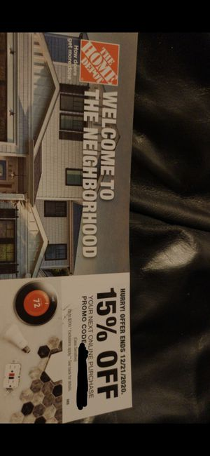 15% off promo code Home Depot for Sale in Gilbert, AZ