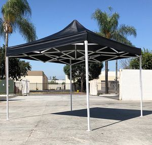 (NEW) $100 Black 10x10 Ft Outdoor Ez Pop Up Wedding Party Tent Patio Canopy Sunshade Shelter w/ Bag for Sale in South El Monte, CA