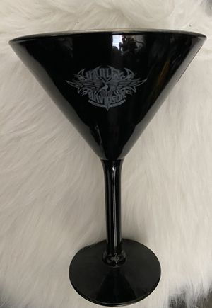 Harley Davidson Black/Silver Glass w Emblem for Sale in Silverado, CA