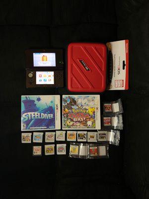 Nintendo 3DS LIKE NEW W/16 GAMES MARIO BROS & CASE for Sale in San Antonio, TX