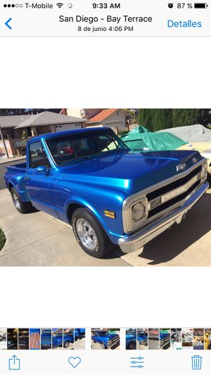 Chevy C10 1970 short bed truck for Sale in San Diego, CA