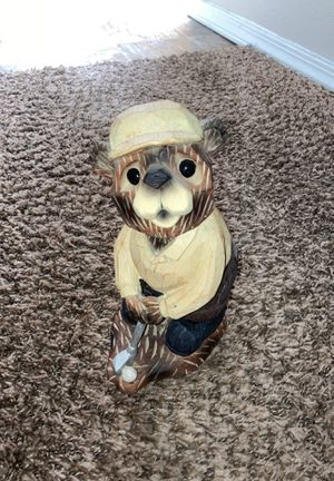 Wood carved Golfing Bear for Sale in Wichita, KS