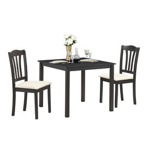 3 Piece Dining Set Dining Room Square Pub Table 2 Solid Wooden Chairs Durable for Sale in Lake Elsinore, CA