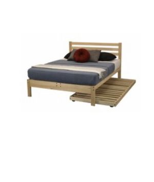 Queen size bed frame with Twin size trundle frame for Sale in Tustin, CA