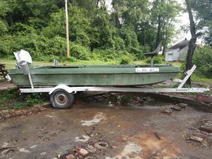Jon boat with trailor for Sale in Alton, IL