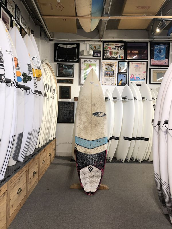 "5'10"" Sharp Eye Disco Surfboard; Used"