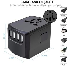 Brand New Box Travel Adapter Universal Plug Adapter for Worldwide Travel, International Power Adapter, Plug Converter with 4 USB Ports, All in One Wa for Sale in Hayward, CA