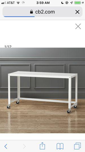 CB2 go-cart white rolling desk for Sale in Washington, DC