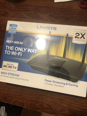 Linksys EA7400 Max-Stream AC1750 MU-MIMO Gigabit Dual-Band Smart Wi-Fi Router in west Springfield for Sale in Springfield, VA