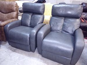 Criss 2pc Italian leather chair set for Sale in Decatur, GA