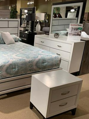 🧿BRAND NEW 🧿SPECIAL] Akerson Chalk White Panel Bedroom Set for Sale in Jessup, MD