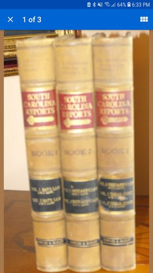 (3) Vintage South Carolina Reports Volume 1,2,& 3 Authentic Vintage Law Book for Sale in Lynchburg, VA