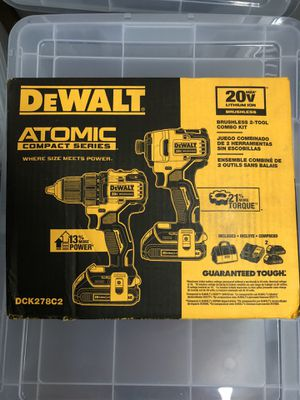 DEWALT ATOMIC 20-Volt MAX Lithium-Ion Brushless Cordless Compact Drill/Impact Combo Kit (2-Tool) 2 Batteries 1.3Ah and Charger for Sale in Philadelphia, PA