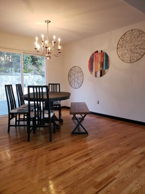 Eclectic Chic Dining Room Table includes 4 Chairs & bench for Sale in Seymour, CT