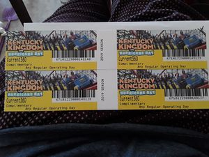 Kentucky Kingdom Tickets 4x for Sale in Indianapolis, IN