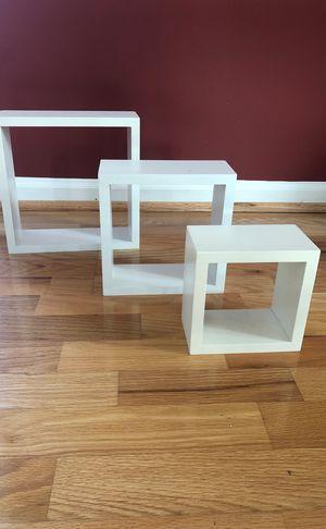 Set of 3 box wall shelves for Sale in Sicklerville, NJ