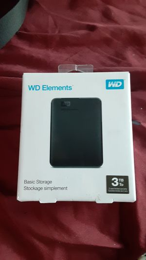 3 TB WD Elements basic storage for Sale in Pismo Beach, CA