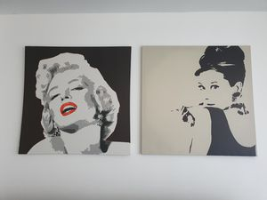 Marilyn Monroe and Audrey Hepburn canvas for Sale in Miami Shores, FL