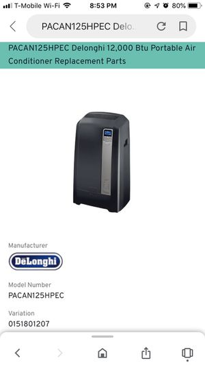 Delonghi air conditioning unit for Sale in Naperville, IL