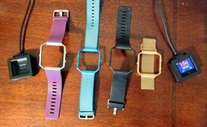 Fitbit Blaze with 4 Watch Bands and 2 Chargers for Sale in Apex, NC