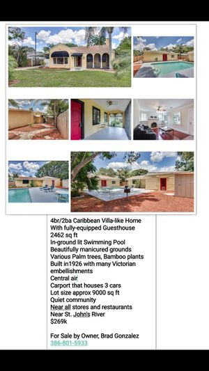 House/Guest House & Pool for Sale in Winter Haven, FL