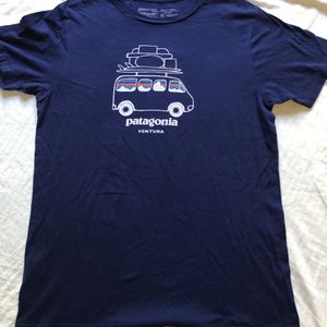 PATAGONIA Ventura CA Graphic Short Sleeve T-SHIRT Slim Fit Blue Size M Organic for Sale in Stevenson Ranch, CA