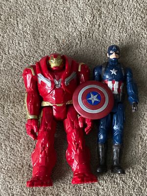 Iron Man and Captain America Big Figures for Sale in Raleigh, NC