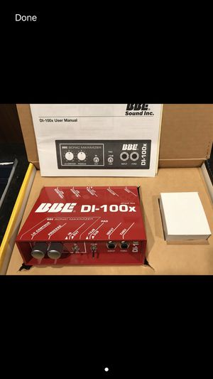 BBE Sonic Maximizer & DI box for Sale in Somerville, MA