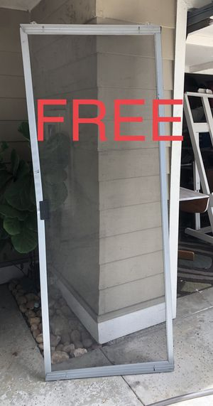 ROLLING SCREEN DOOR - Slightly crunched frame - Screen is in good condition - 79x30 - SDSU area for Sale in San Diego, CA
