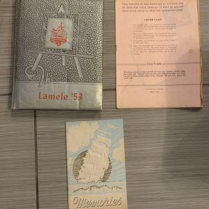 wahkiakum high school yearbook, Washington Lamele, 1953 w/ autographs & memories. for Sale in Fort Lauderdale, FL